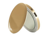Pearl Compact Mirror Battery Pack - Gold