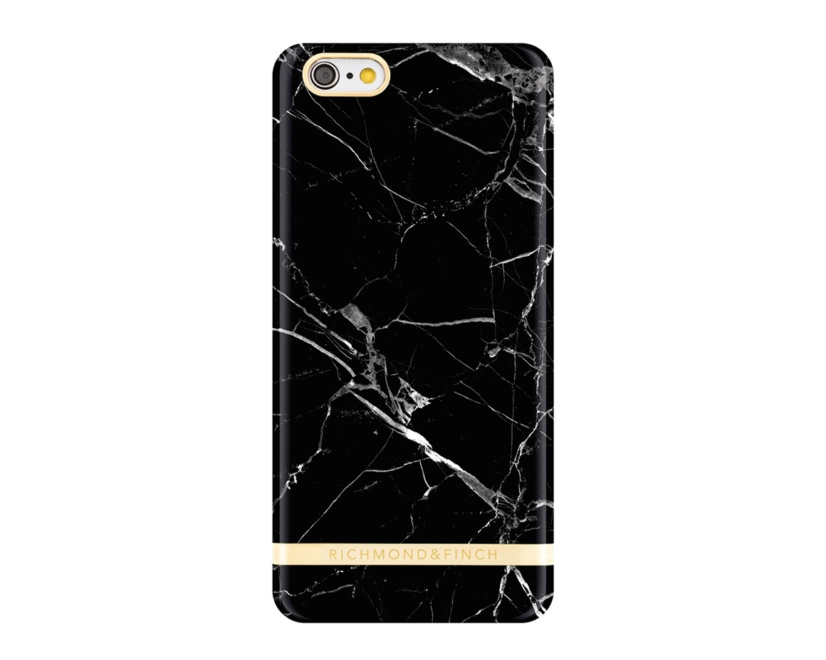 R&F för iPhone 6/6s - Black Marble Glossy