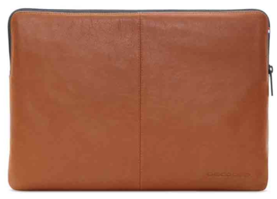 "Decoded - Leather Slim Sleeve 12"" - Brun"