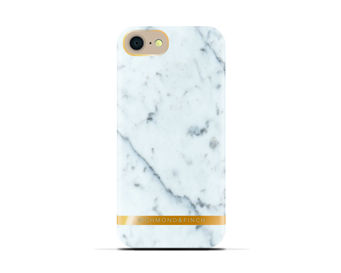 R&F för iPhone 7 -  White Marble  Glossy