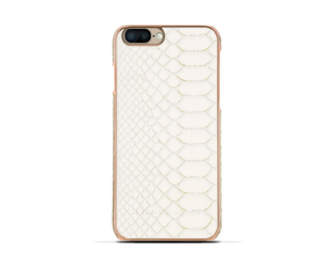 R&F för iPhone 7 Plus -  Framed Rose White Reptile