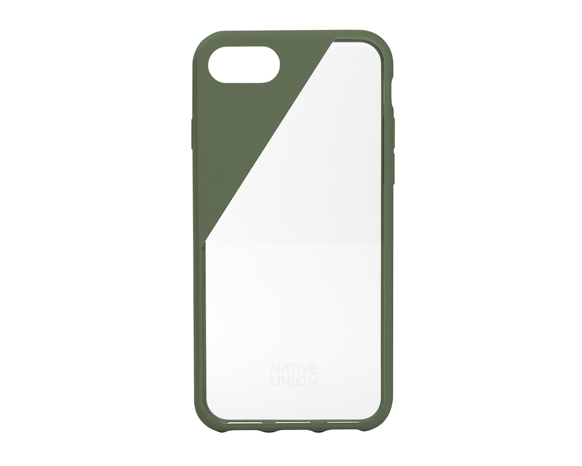 Native Union CLIC Crystal till iPhone 7 - Olive