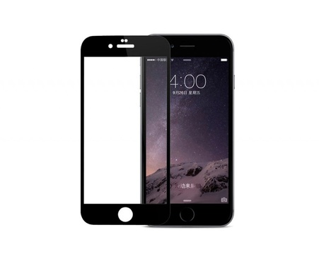 Pomologic - Curved Tempered Glass Screen Protector iPhone 7 Plus -  Black