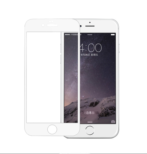 Pomologic - Curved Tempered Glass Screen Protector iPhone 7 Plus -  White