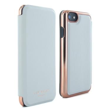 Ted Baker - Mirror Folio Case for iPhone 7 - Shannon - Light Gray