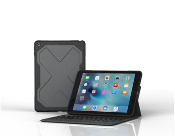 ZAGG Rugged Messenger Folio Keyboard för iPad 9.7 (2017) - Svart - Nordic