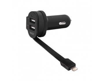 Xqisit Dual Car Charger 6A - Lightning/USB