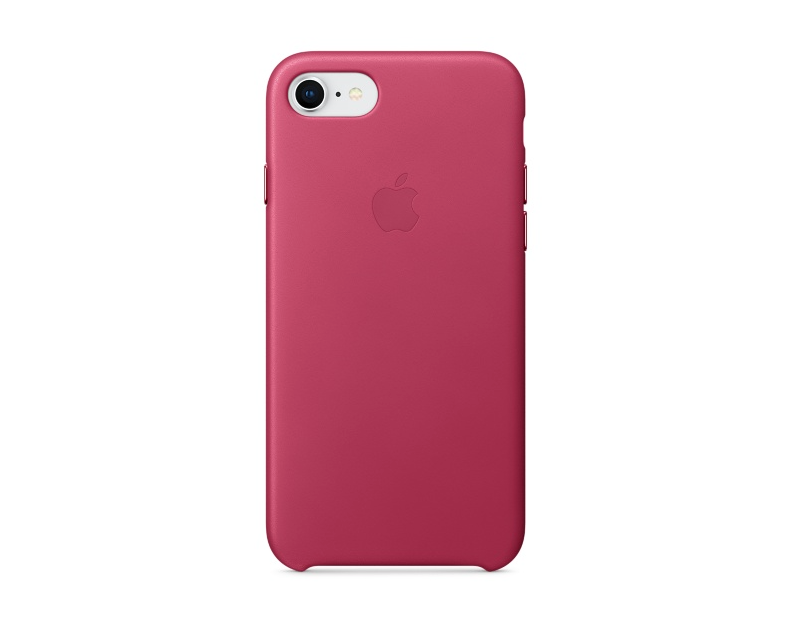Apple iPhone 8/7 Läderskal - Fuchsia