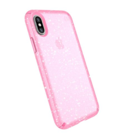 Speck Presidio Clear + Glitter - Bella Pink With Gold för iPhone  X
