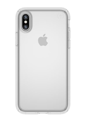 Speck Presidio Clear - Clear/Clear för iPhone X