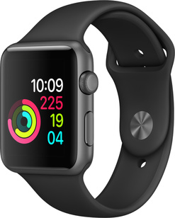 Apple Watch Sport 42MM Rymdgrå Aluminium - Svart Sportarmband