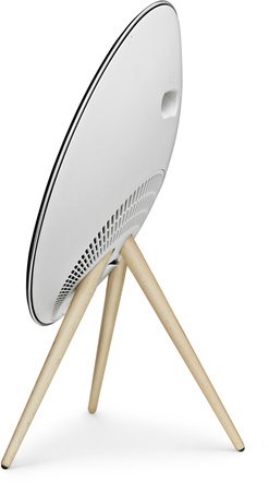 B&O BeoPlay A9 MKII - White Bluetooth, Maple Legs