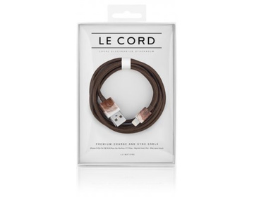 LE CORD Lightning till USB Kabel 1m - Aquarells Brown