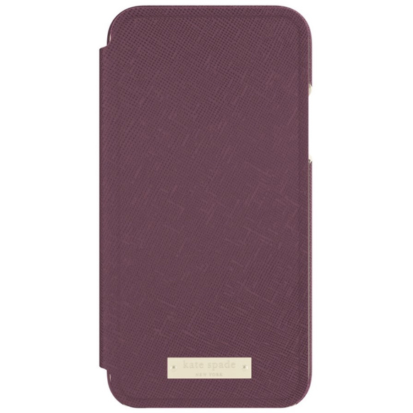 Kate Spade Wrap Folio Case för iPhone X - Mahogany