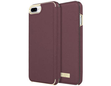 Kate Spade Wrap Folio Case for iPhone 7/8 Plus Mahogany