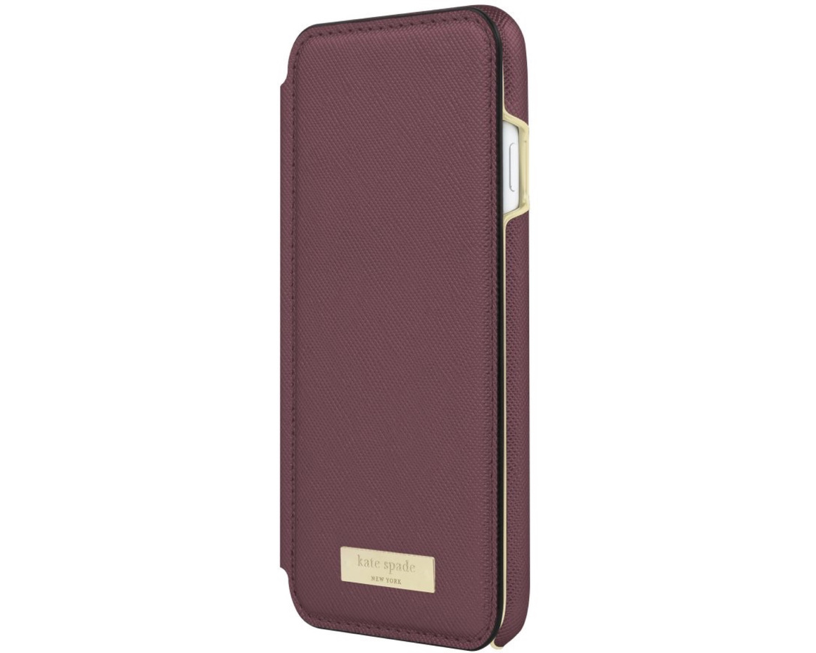 Kate Spade Wrap Folio Case for iPhone 7/8 Mahogany