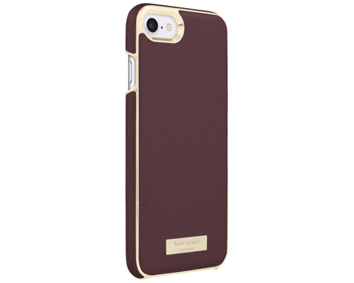 Kate Spade Inlay Wrap Case for iPhone 7/8 Mahogany