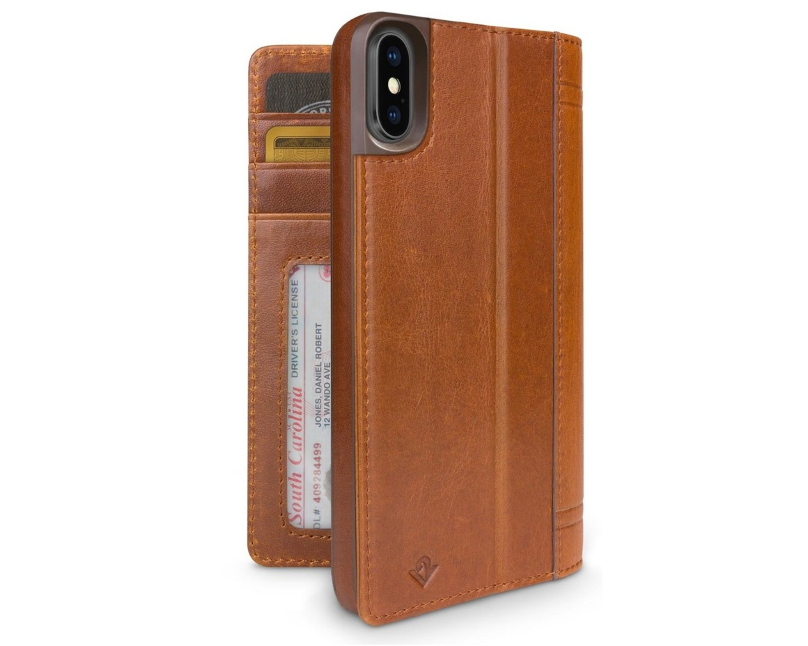 Twelve South Journal för iPhone XS Max - Cognac