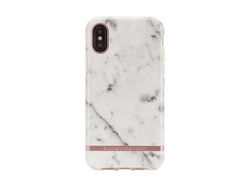 R&F - White Marble - Rose Gold details för iPhone X