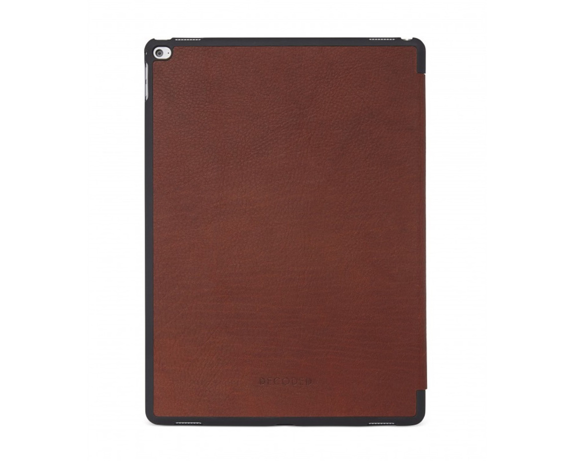 "Decoded - Leather Slim Cover for 12.9"" iPad Pro 2017 - Brun"