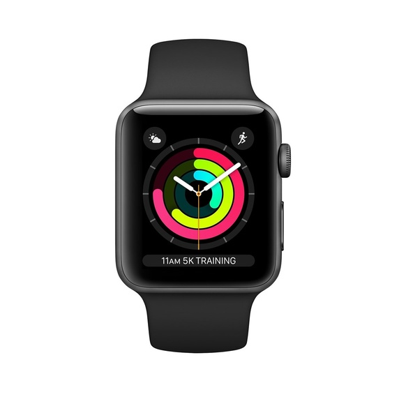 Apple Watch Series 3 GPS + Cellular Aluminiumboett i Rymdgrått med Sportband i Svar