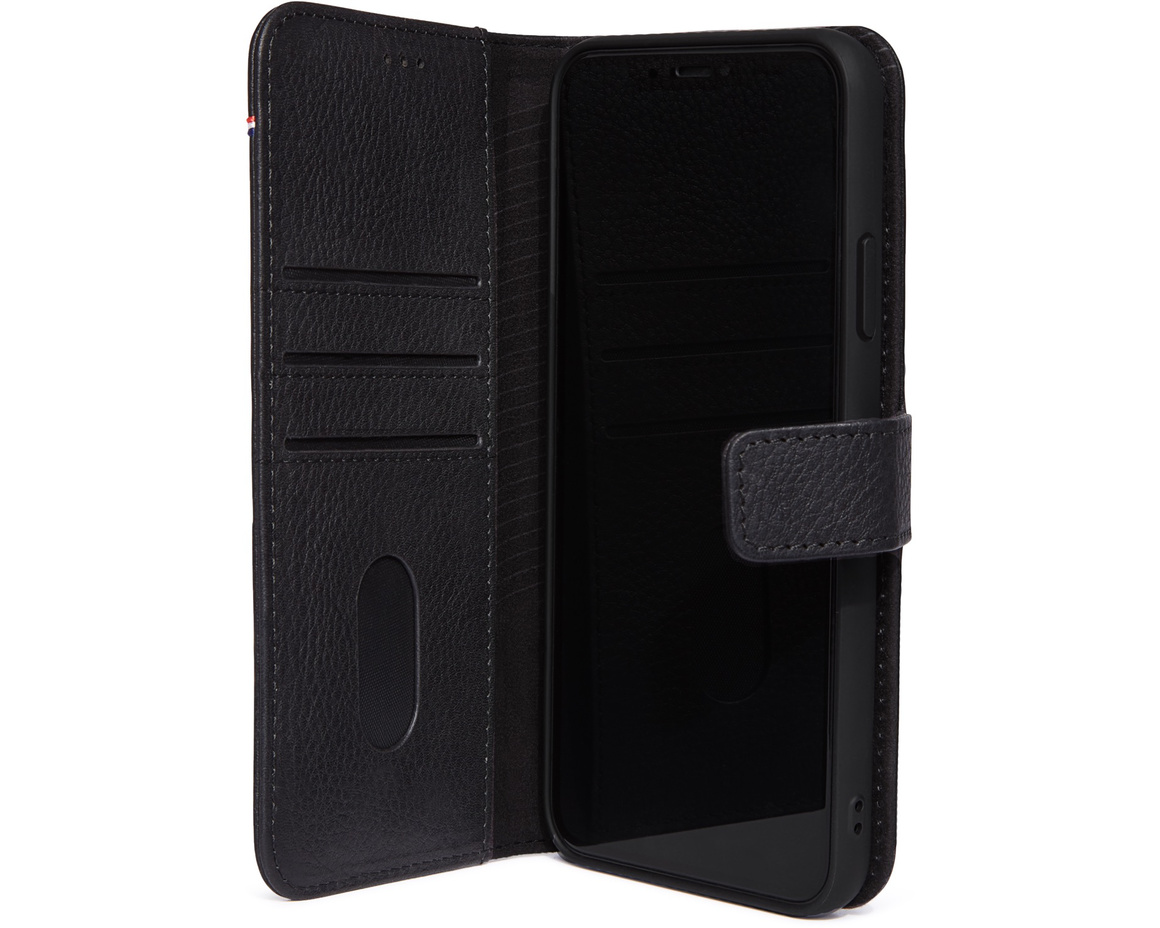 Decoded Full Grain Leather Detachable Wallet för iPhone 11 Pro Max - Svart