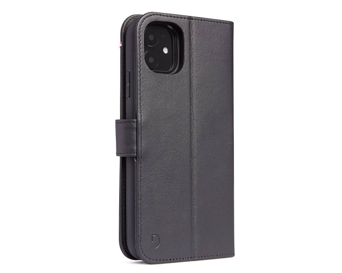 Decoded Full Grain Leather Detachable Wallet för iPhone 11 - Svart