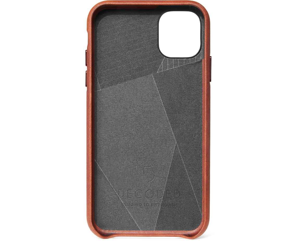 Decoded Full Grain Leather Backcover för iPhone 11 - Brun