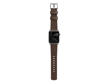 Nomad - Modern Strap - 44mm/42mm - Silver Hardware - Rustic Brown Leather
