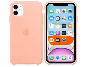 Apple iPhone 11 Silikonskal Grapefruit