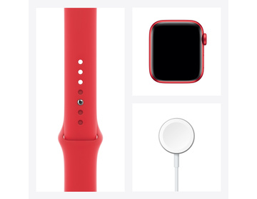 Apple Watch Series 6 GPS + Cellular 40mm Aluminiumboett i PRODUCT(RED) med PRODUCT(RED) Sportband - Regular