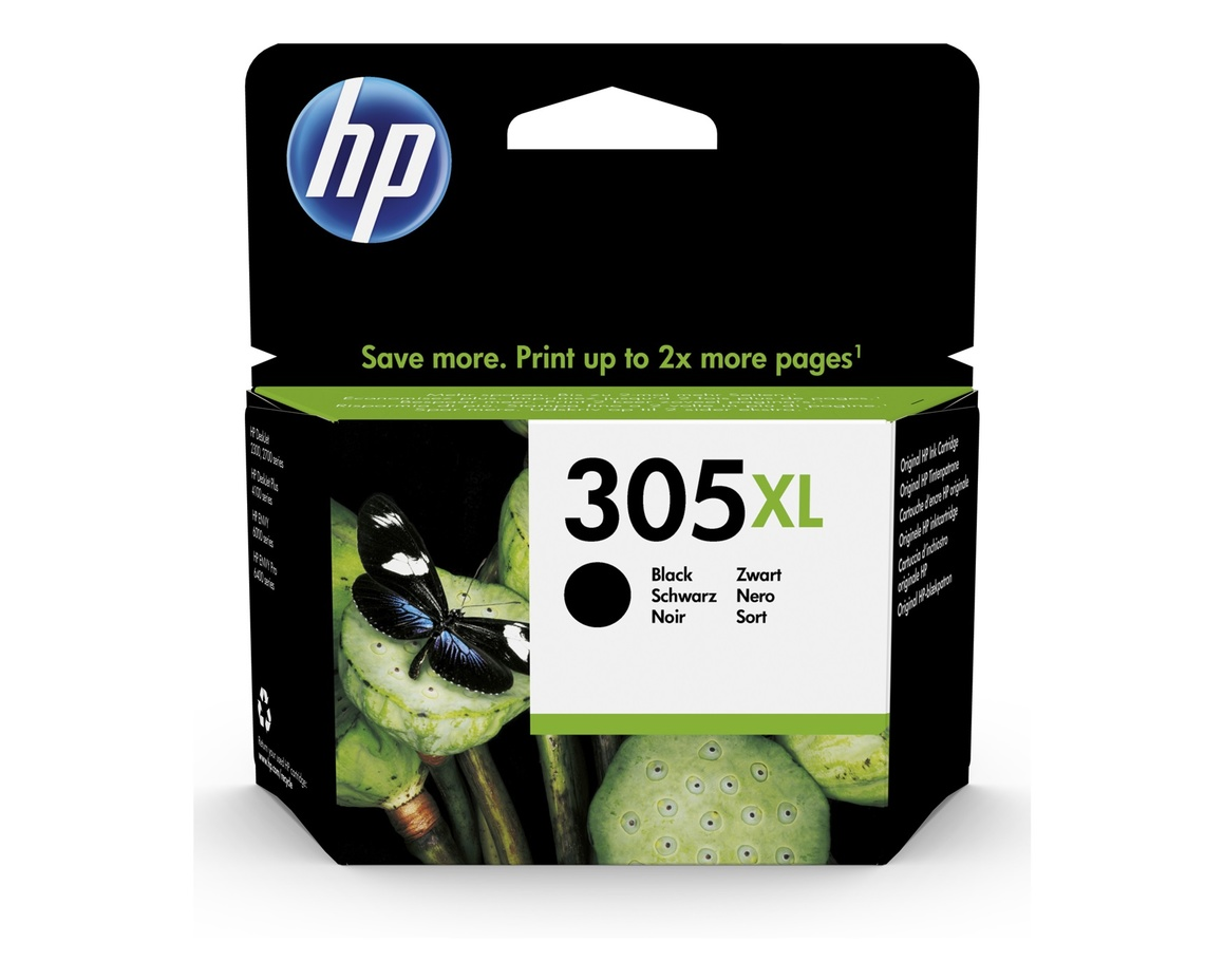 HP 305XL Original Ink Cartridge - Pigment Black - Inkjet - High (XL) Yield - 240 Pages - 1 Pack